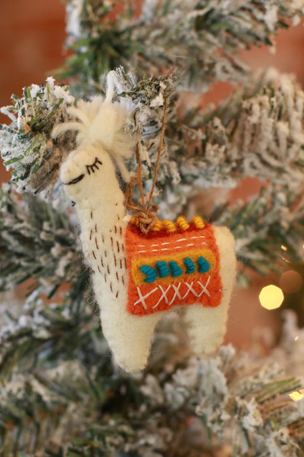 The Winding Road Llama Ornament