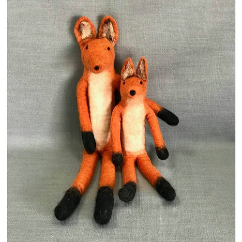 The Winding Road Large Felt Fox Stuffie