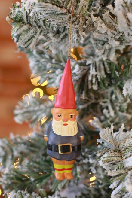 C&F Home Blue Gnome Ornament