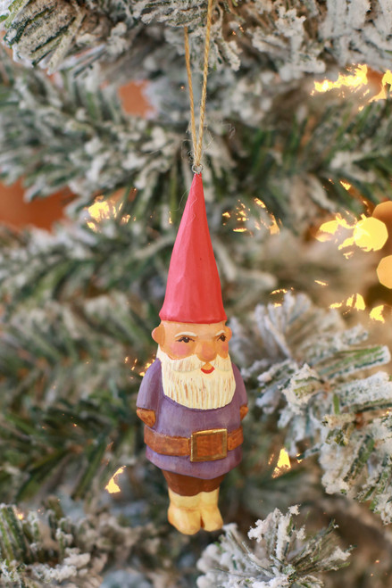 C&F Home Purple Gnome Ornament