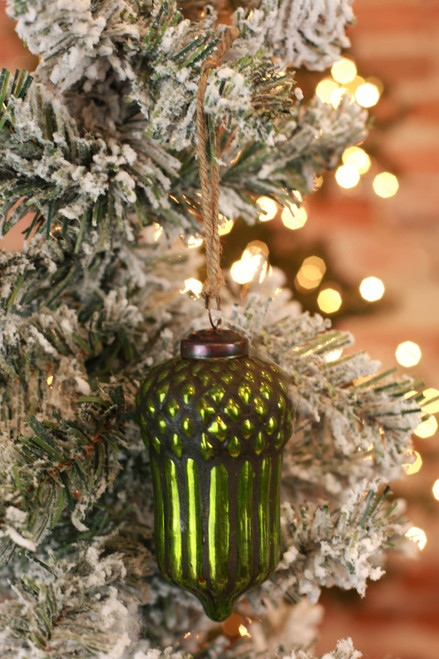 C&F Home Moss Green Acorn Ornament