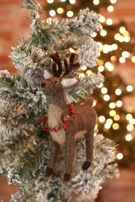 C&F Home Woodland Deer Ornament