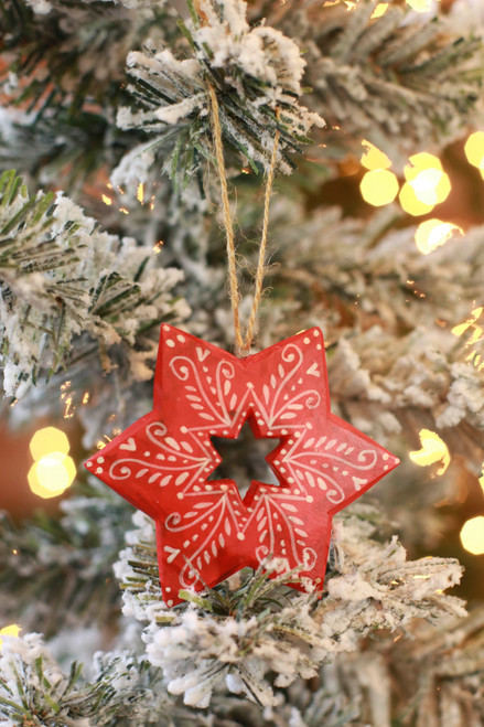 C&F Home Red Star Sugar Cookie Ornament