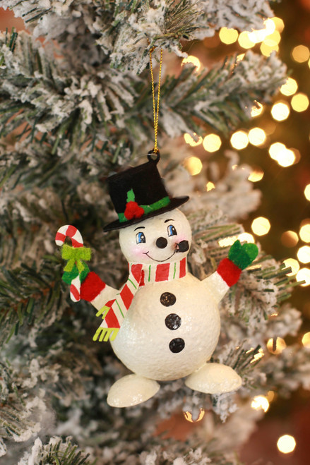 C&F Home Red Happy Snowman Ornament
