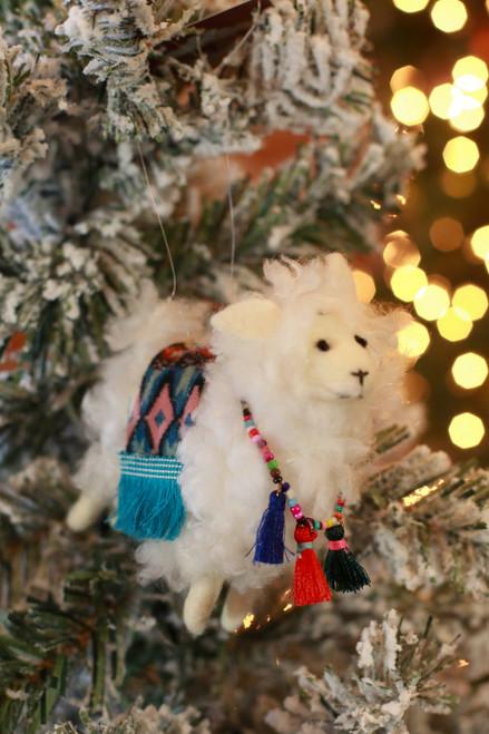 Felt Llama Ornament