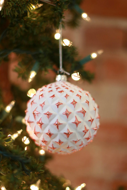 C&F Home Star Geometric Rose Gold Ornament