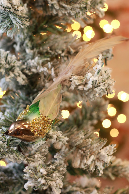 C&F Home Jeweled Bird Clip Ornament