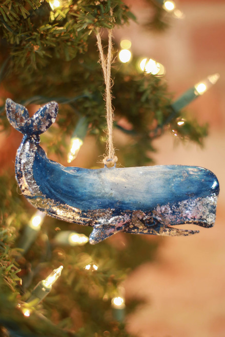 C&F Home Blue Whale Ornament
