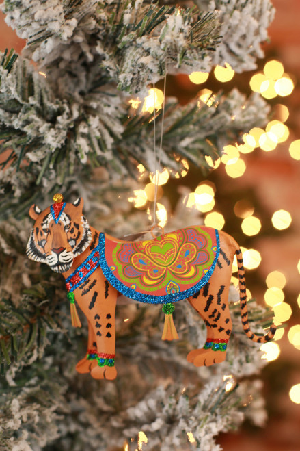 C&F Home Boho Circus Tiger Ornament