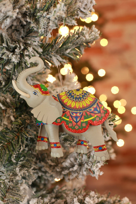 C&F Home Boho Circus Elephant Ornament