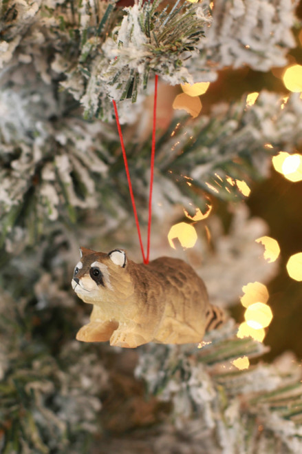 C&F Home Mini Raccoon Woodland Animal Ornament
