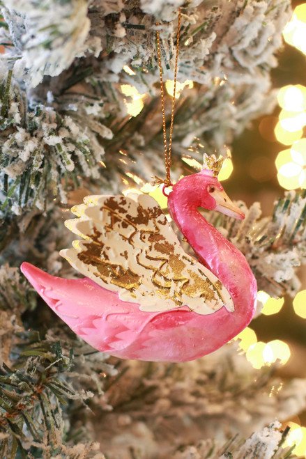C&F Home Swan Queen Ornament