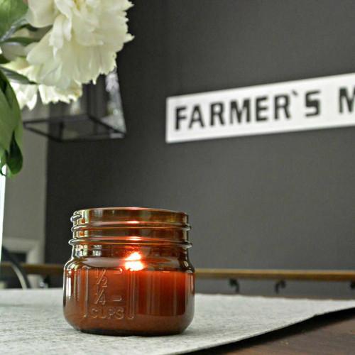 Woodfire Candle Co. Tobacco and Honey Mini Mason Wood Wick Candle