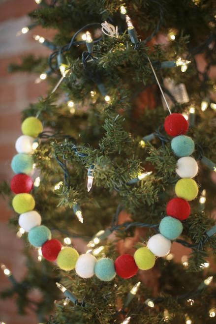 The Mad Padder Merry Wool Felt Ball Garland