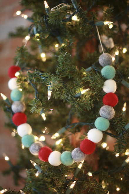 The Mad Padder Festive Wool Felt Ball Garland