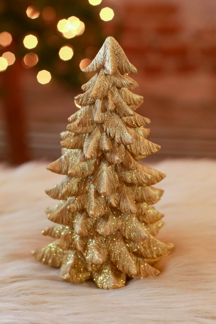 Small Gold Tree Figurine