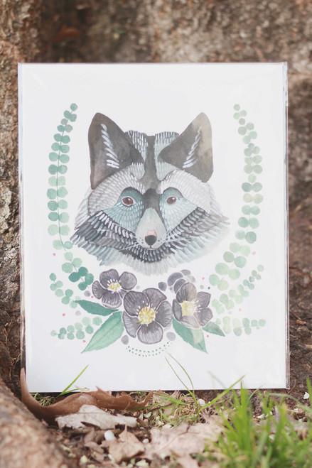 "Michele Maule Black Fox Art 8"" x 10"" Print"