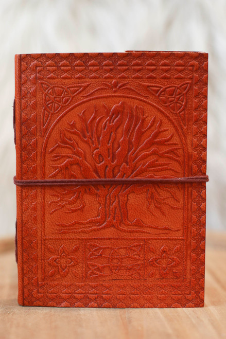 Soothi Tree Of Life Handmade Brown Leather Journal
