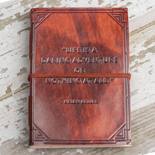 Soothi A Daring Adventure Handmade Brown Leather Journal