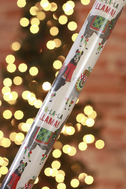 Paper Source Fa-la-la Llamas Wrapping Paper Sheets