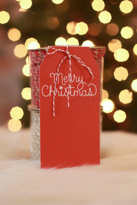 Paper Source Merry Christmas Hanging Gift Tags (Pack of 10)