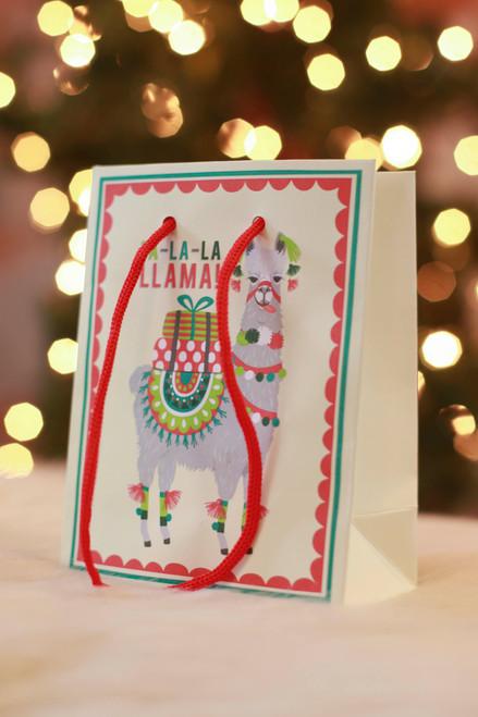 Paper Source Small Holiday Llama Bag