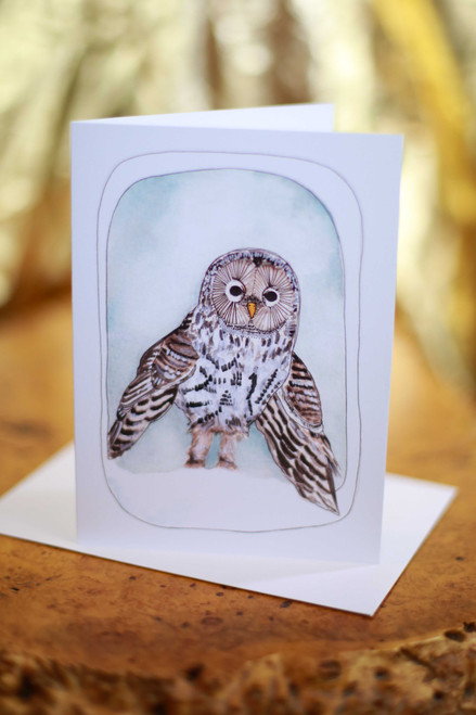 Michele Maule Snow Owl Greeting Card