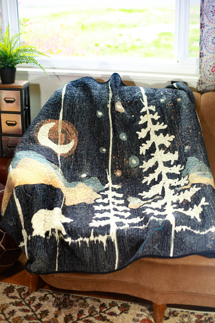 Moonlit Bear Throw