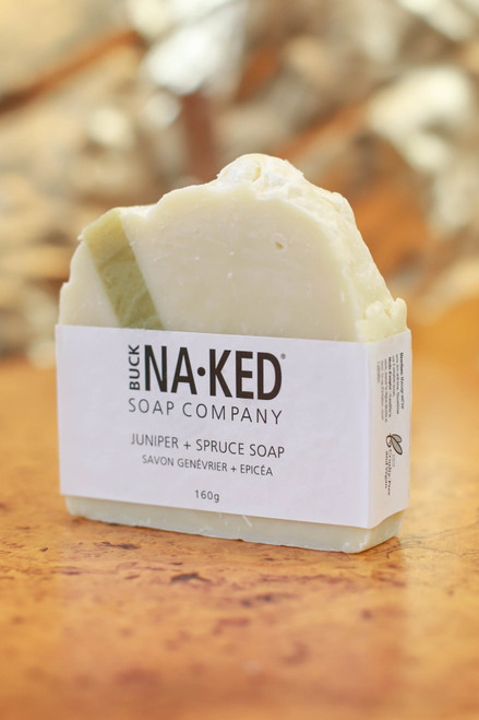 Buck Naked Soap Company Juniper and Spruce Soap Bar