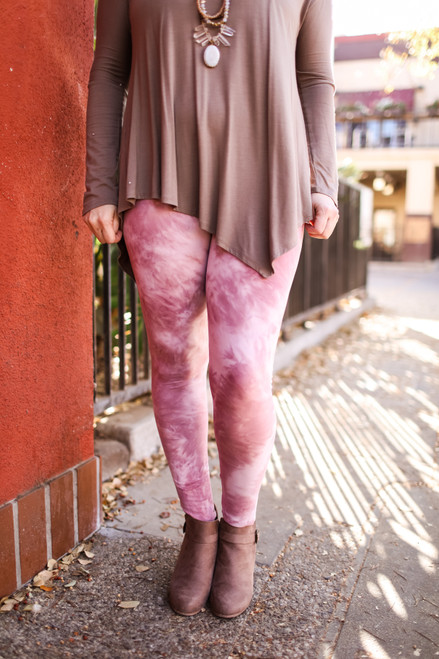 Curvy Pink Tie Dye Super High Waist Butter Soft Leggings