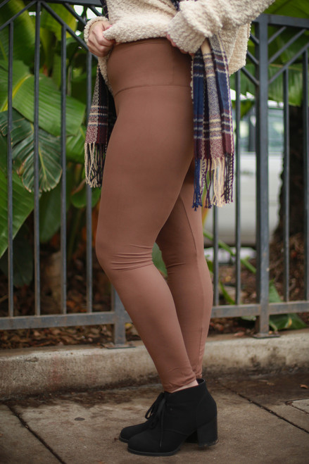 Curvy Mocha Super High Waist Butter Soft Leggings