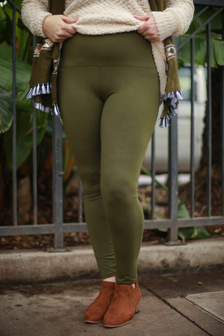 Curvy Olive Super High Waist Butter Soft Leggings