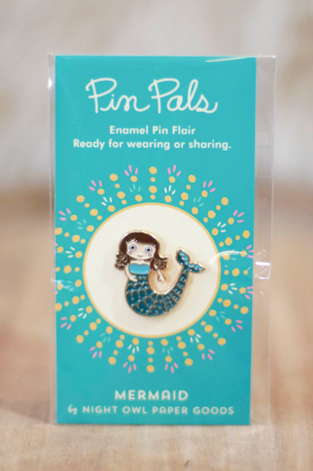 Night Owl Paper Goods Mermaid Enamel Pin