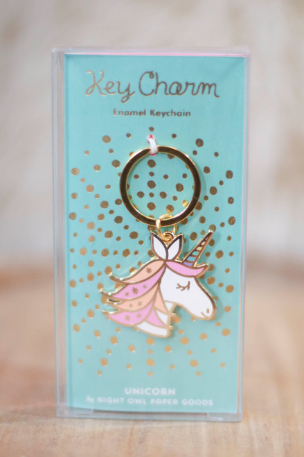 Night Owl Paper Goods Unicorn Enamel Keychain