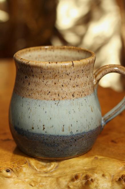 Farmhouse Belly Mug in Big Sky Blue and Caramel