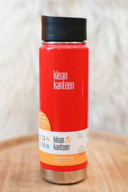 Klean Kanteen Insulated 20 oz. Wide Canteen in Mineral Red