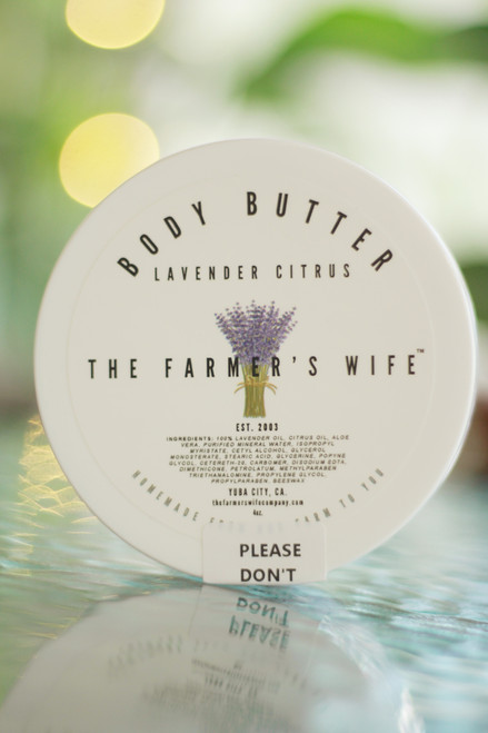 The Farmer's Wife 4 oz. Lavender Body Butter (updated packaging).