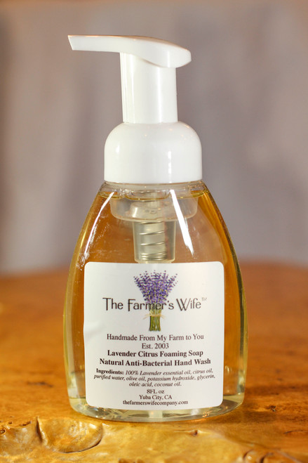 The Farmer's Wife Lavender Citrus Foaming Soap