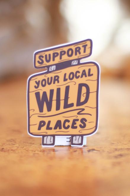 Wild Places Sticker