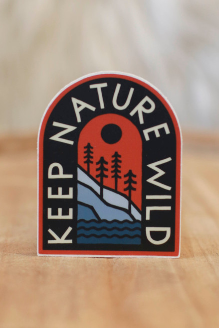 Keep Nature Wild Mountainside Sticker