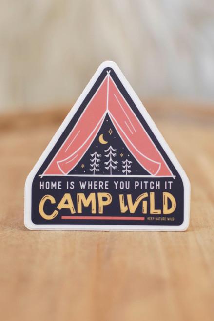 Camp Wild Sticker