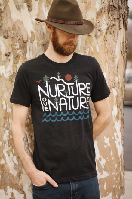 Nurture Our Nature Heather Black T-Shirt