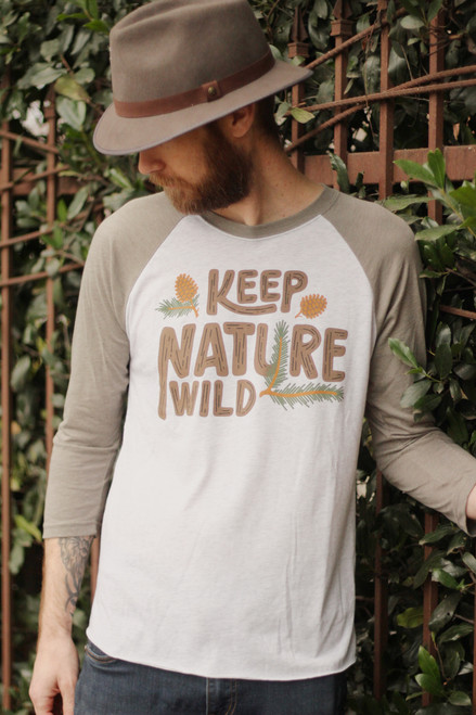 Keep Nature Wild Dusk Pinecone Unisex 3/4 Sleeve Shirt