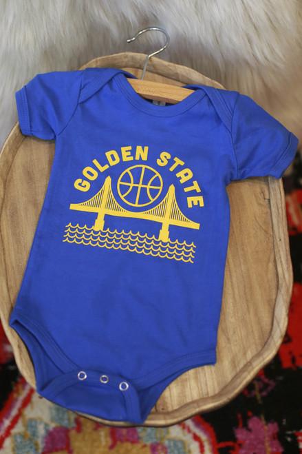 Golden State Blue Baby Onesie