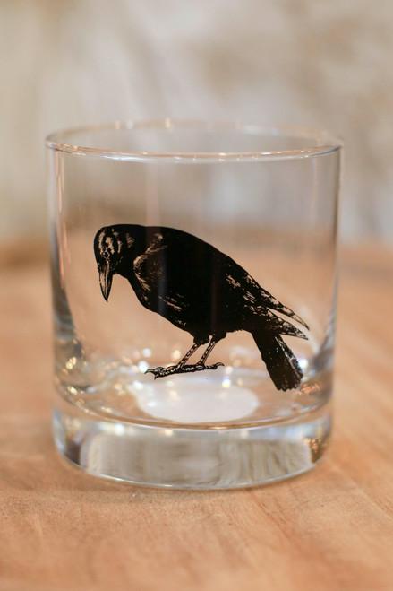 Black Crow Rocks Glass