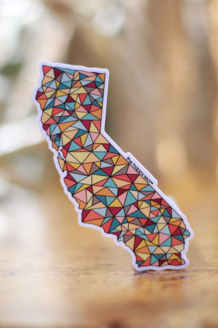 Geometric California Sticker