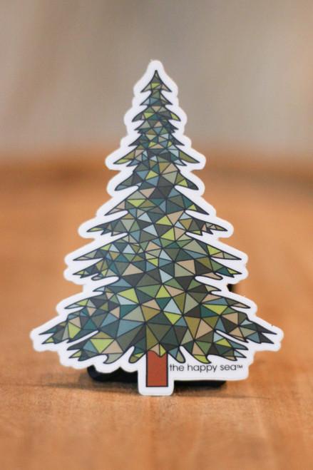 Geometric Pine Tree Sticker