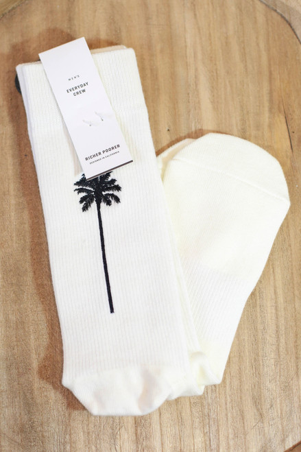 Men's Coaster Palm Tree Ivory and Yellow Socks