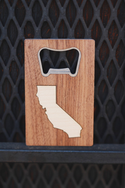 Treeline and Tide California Wood and Metal Bottle Opener