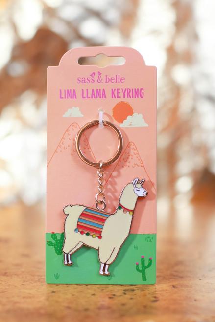 Lima Llama Enamel Keyring